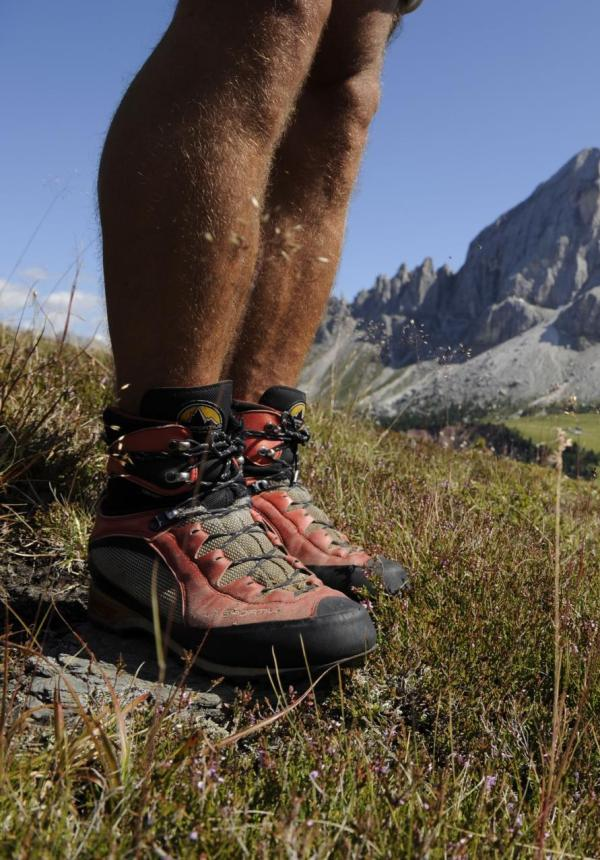 Hiking in the Dolomite mountains